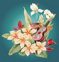 hawaiian print vector image