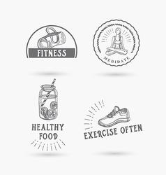 Healthy life icon design vector
