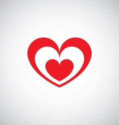 Heart design logo vector