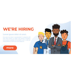 Hiring and recruitment design poster vector