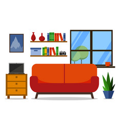 home interior for web site print poster vector image