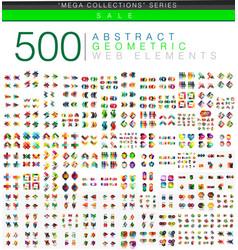 Huge mega set 500 business paper origami style vector