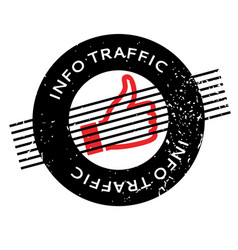 Info traffic rubber stamp vector