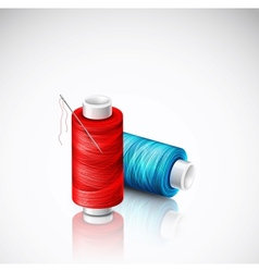 Isolated bobbins of thread vector image