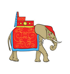 Isolated object on white background elephant in vector