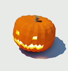 jack-lantern low poly for vector image