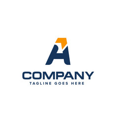 letter a and arrow logo design abstract logo vector image