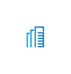 line building company logo vector image