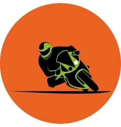 Motorcycle race icon vector