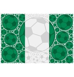 Nigeria soccer balls vector