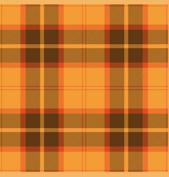 Orange brown tartan plaid scottish pattern vector