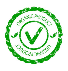 organic product green stamp seal vector image