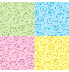 patterns of smiles vector image