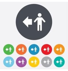 Pedestrian road icon Human path vector image