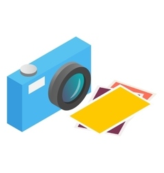 Photo camera isometric 3d icon vector