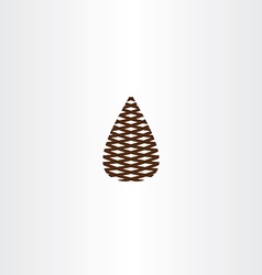 Pinecone icon symbol vector