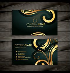 Premium luxury golden business card design vector