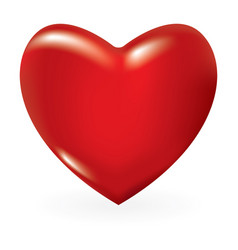 red 3d valentine heart vector image