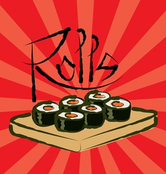rolls vector image