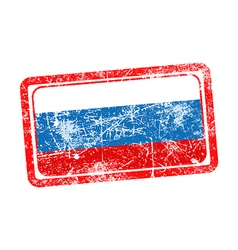 Russia flag red grunge rubber stamp vector