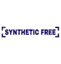 Scratched textured synthetic free stamp seal vector