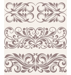 set vintage ornate border frame filigree vector image