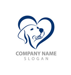 silhouette dog a pet shop veterinary vector image
