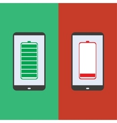 smartphone battery flat design vector image