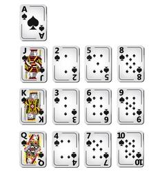 Spade cards full series vector