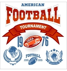 Sport American Football Logo vector