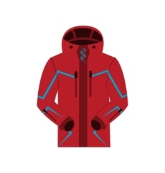 Sports jacket warm zipper model vector