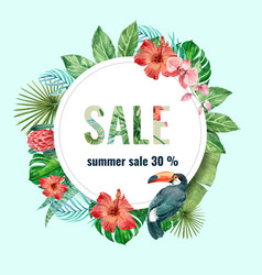 Summer advertising holiday promote on sale vector