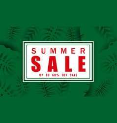 summer sale banner template for seasonal sales vector image