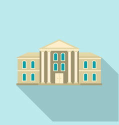 supreme courthouse icon flat style vector image