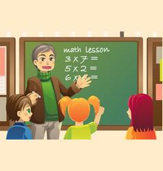 teacher in classroom vector image