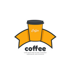 template logo for coffee shop vector image