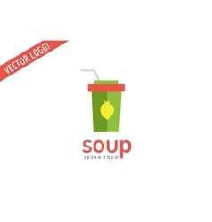 Vegan eco soup pack logo icon Nature product vector image