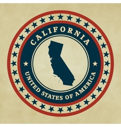 Vintage label California vector