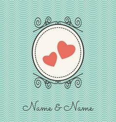 Wedding cards1 vector