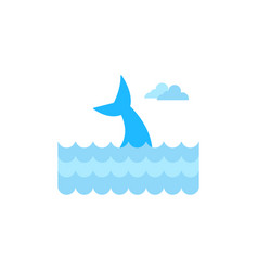whale tail graphic design template isolated vector image