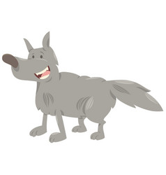 Wolf cartoon animal character vector