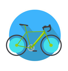 bicycle icon design flat isolated bike web button vector image vector image