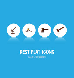 flat icon court set of government building court vector image vector image
