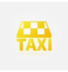 Taxi yellow icon or logo vector image vector image