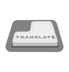 Translate button icon in monochrome style isolated vector image