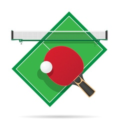 ping pong table vector image vector image