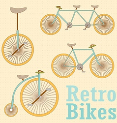 Vintage Retro Bicycle vector image