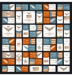 Independence day greeting card with typographic vector image vector image