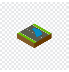 Isolated puddle isometric plash element vector