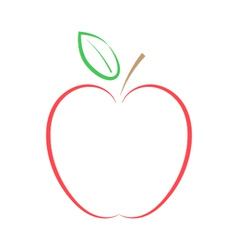 Red apple on a white background vector image vector image
